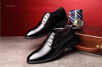 koreanische markenschuhe großhandel-2019 Markendesigner echtes Leder Männer Oxford Schuhe, Spitz Männer Kleid Schuhe koreanischen Stil Hochzeitsschuhe Jp34