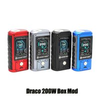 Wholesale mod full - 100% Original ModeFined Draco 200W Box Mod VW TC Dual 18650 Battery 510 Thread Mod With 2.0inch Full Color Screen
