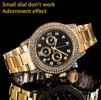 pequenos relógios venda por atacado-Relogio masculino relógios das mulheres top ladies Designer multicor Colorido flor Dial pequena função cronógrafo Dobrável relógio