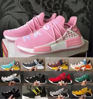 womans shoe großhandel-2018 New NMD HUMAN RACE Trail Stiefel X Pharrell Williams Herren Damen Laufschuhe Ultra nmds Männer Womans Sport Turnschuhe Pharell Racer Zapatos