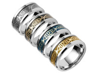 Wholesale inspirational gifts for women online - Stainless Steel Christian JESUS ring Finger ring Nail rings Silver Gold Band Rings for Women Men Believe inspirational jewelry R211