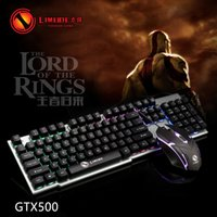 Wholesale New model GTX500 laptop cable U U keyway mouse suit laptop light game mouse keyboard free of freight