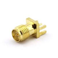 Wholesale sma plug connector for sale - Group buy RP SMA Female Plug Bulkhead Solder PCB Mount RF Connector RP SMA Female Connector Adapter Coax Coaxial