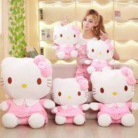 merhaba kitty tv toptan satış-Orijinal Hellokitty Bebek Peluş Oyuncaklar, Sevimli Hello Kitty Bebekler, Kızlar Günü Hediyesi, Noel Hediyesi / 40 Cm Hayvanlar