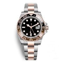 Wholesale new day rose for sale - Group buy New Ceramic Bezel GMT II AAA Watches Luxury Brand Automatic Watch Silver Rose Gold Original Clasp Mens Women s Fashion Master Reloj Watches