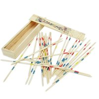 Wholesale Fine Toys - Family game Wood stick Educational Developmental Baby Kids Training Toy Increased Attention And Fine Action Control