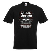 ingrosso muscolo americano-Outlaw American Muscle Mens stampato T-shirt Legend Car Classic Vintage Engine Cartoon T Shirt Uomo Unisex New Fashion Tshirt