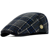 derby wolle barett groihandel-Qualitäts-Retro- erwachsene Barett-Mann-Wolle-Plaid Cabbie Flatcap Hüte für die Nachrichtenjungen-Kappen der Frauen geben Schiff frei
