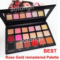 Wholesale glitter shadows - Makeup Colors eyeshadow Beauty Rose Gold remastered palette Shimmer Matte Eye shadow Pro Eyes Brand Cosmetics best quality Palette