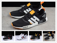 Wholesale Best New Casual Sneakers - 2018 Newest NMD Runner R1 Primeknit Sneakers Best Quality off New Men And Women Running Shoes Triple White Black Casual Sport Shoes
