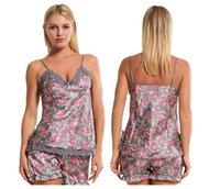 strickjacke großhandel-Frauen Nachtwäsche Home Kleidung für Frauen Sommer Negligee Frauen Short Bademantel Pyjamas Sexy Pyjamas Sets