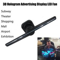 Wholesale P5 Led Display - 3D Hologram Advertising Display LED Fan Holographic Imaging 3D Naked Eye LED Fan Fashion Cool Dropshipping P5