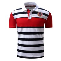 Wholesale Men Sexy Sport Shorts - New Mens Sexy Casual Sports Strips Short Sleeves Cotton Tee Polo T-Shirts SD133