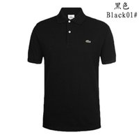 Wholesale Men S Business Casual Shirts - Business Office Polo Shirt 2018 New Brand Men Clothing Solid Mens Crocodile Embroidery Polo Shirts Casual Poloshirt Cotton Breathable S-5XL
