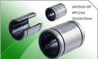 slides lineares venda por atacado-4 pçs / lote LM35UU-OP LM35UUOP LM35-OP 35mm tipo aberto linear bucha deslizante rolamentos de movimento linear peças de impressora 3d cnc router 35x52x70mm
