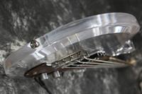 pont de basse électrique achat en gros de-Livraison Gratuite Dan Armstrong Ampeg Guitare Basse Électrique Corps Acrylique palissandre pickguard Fix bridge Crystal Guitar