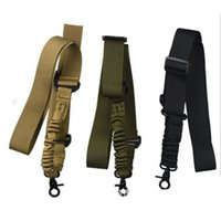 ingrosso accessori pistole aria-10 Pz Nylon Regolabile Tactical singolo punto Bungee Fucile Pistola Airsoft Air Rifle Sling caccia pistola Cinghia Accessori di Ripresa j2