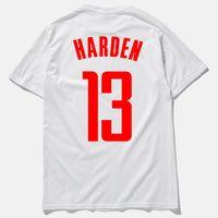 ingrosso camicie da basket-Mens T Shirt Mens Top 2018 Estate New Fashion Basket Star Harden Lettera Stampa Uomo Tees Sport Shirt Active Crew Neck Traspirante