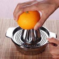 соковыжималка для лимонной нержавеющей стали оптовых-Толстая нержавеющая сталь ручной соковыжималка для апельсинов Ручной пресс Лимонная соковыжималка Фруктовый сок Цитрусовый чайник Кухонные принадлежности