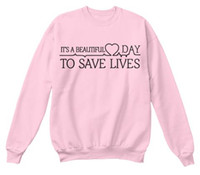 "Wholesale beautiful hoodies - Wholesale-""Its A Beautiful Day To Save Lives ""Greys Anatomy Sweatshirt Womens Long Sleeve Shirt Tumblr College Crewneck Pink Hoodies"