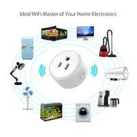 Wholesale electronics piece resale online - single piece WF Mini Smart Wifi Socket US Plug Remote Control Power Strip Timing Switch for Smart Home Automation Electronic System