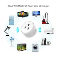 ev otomasyon anahtarları toptan satış-Tek parça WF Mini Akıllı Wifi Soket ABD Plug Uzaktan Kumanda Güç Şeridi Zamanlama Anahtarı Akıllı Ev Otomasyon Elektronik Sistemi için