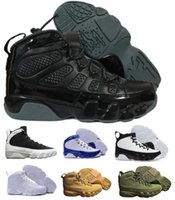 Wholesale Christmas Countdown - Cheap 9 Basketball Shoes Mens Womens White 9s VIIII Bred Space Jam Olive City Of Flight GS Countdown Pinnacle Pack Outdoor Shoe Sneakers