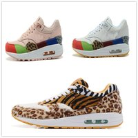 Wholesale Pink Leopard Shoes - New air 1 low running women's running shoes air cushioned casual women's shoes leopard print comfortable tourist shoes