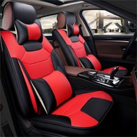 Wholesale accessories for rav4 for sale - Universal Fit Car Accessories Seat Covers For Toyota RAV4 Full Surround Durable PU Leather Adjuatable Five Seats Covers For SUV