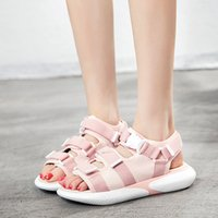 Wholesale Muffin Sandals - 2018 summer new wild students casual shoes thick bottom muffin sandals female free shipping