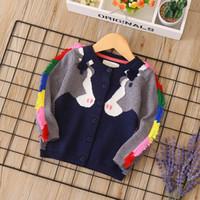 babys ropa de invierno al por mayor-Niñas cardigan de color con flecos de caballos jacquard niñas cardigan otoño invierno babys ropa suéter
