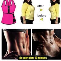 corsé xxl mujer al por mayor-Cintura Cincher Sudor chaleco Entrenador Faja de abdomen Control Corsé Body Shaper para mujeres más tamaño S M L XL XXL 3XL 4XL