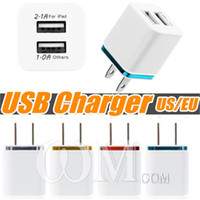 usb power charge iphone venda por atacado-Metal dual usb carregador de parede eua plugue 2 portas em casa de carregamento adaptador de energia ac para samsung galaxy s9 s8 lg htc tablet