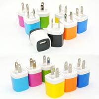 nota dos eua venda por atacado-Carregador de parede Adaptador De Viagem Para O Iphone 6 S Plus 5 V / 1A Colorido Casa Plug USB carregador para samsung s6 s6 edge note 5 eua versão da ue versão dhl
