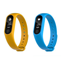 Wholesale m2 smart bracelet online - M2 plus Smart Bluetooth Blood Pressure Waterproof IP67 Smart Bracelet Heart Rate Monitor Sleep monitor Wristband for IOS Android DHL