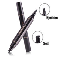 stock stamps 2018 - Stock makeup Miss Rose Stamp Eyeliner & Seal Pencil Professional Eye Makeup Tool Double Heads Two Heads Eyeliner Pen DHl free