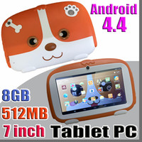 Wholesale kids tablet online - 2018 Kids Brand Tablet PC quot inch Quad Core children tablet Android Allwinner A33 google player MB RAM GB ROM