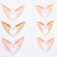 máscara de vampiro de látex venda por atacado-Orelha Máscara Fada Cosplay accessores vampiro Halloween Party Para Latex suave 10 centímetros de orelha falsa e 12 centímetros HH7-1344