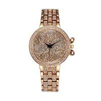 Wholesale relojes women for sale - Lucky Clouds Role Watches Women Gold Full Diamond Sobretudo Feminino Bu Rhinestone Luxury Brand Relojes Mujer