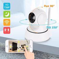 cctv gözetleme monitörü toptan satış-Sıcak 720 P 960 P 1080 P SANNCE Ev Güvenlik Kablosuz Akıllı IP Kamera Gözetim Kamera Wifi 360 dönen NightVision CCTV Kamera Bebek Monitörü