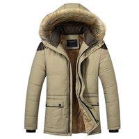 Wholesale Black Hee - Big Size M-5XL Winter Jacket Men 2017 Long Warm Black Male Coat Down Jacket Parka Hee Grand Hooded Snow Cold Windbreaker WU94