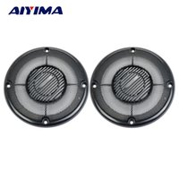 Wholesale waffle plates - speaker Aiyima 2Pcs 4Inch Plating Car Cover Speakers Protective Net Tweeter Grille Waffle Mesk Grills Special Audio Accessories