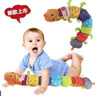 Wholesale baby animal music plush toys resale online - Kid Plush Toy Singing Multi Function Caterpillar Height Scale Puzzle Baby Toys Educational Music Rattles Funny Gift Hot K0077