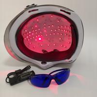 лазеры для роста волос оптовых-Новые лазерные волосы отрастания шлем 650nm диод лазерный рост волос анти волос потеря лечение головы массажер крышка глаз защитные очки