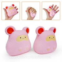 Wholesale toy kangaroos - Quokka Squishies Toy Kangaroo Squishy Pink Roo Kawaii Slow Rising Animal Phone Strap DHL Free Shipping SQU063