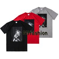 Wholesale horror shirts - 17FW Fashion High Quality Box Logo Horror Tee Summer T-shirt Top Men Women Sport Cotton Casual T Shirt