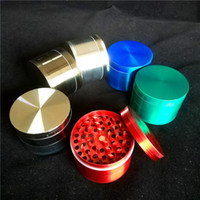 grandes molinos de tabaco al por mayor-60mm Large Herb Grinders 3 Layer Tobacco Grinder Cheap Big Cali Triturador Grinder Diamond Herb Grinder En Venta