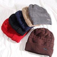 schalldämpfer für männer großhandel-Winter Mann Hut Schalldämpfer Wolle Linie Strickwolle Caps Erwachsene Schal Hüte Anzug Warme Weihnachtsmützen