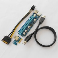 Wholesale laptop pcie for sale - Upgrade edition VER C PCIe x to x PCI Express Extender Riser Card PCI e Extension Adapter Miner Machine Cable