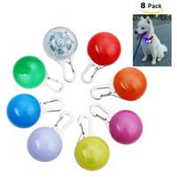 noite luz cão coleiras venda por atacado-Cão LED Glow Collar Luz Pingente Pet Night Out Luzes de segurança para os cães Anti-Lost 3 Modo Piscando